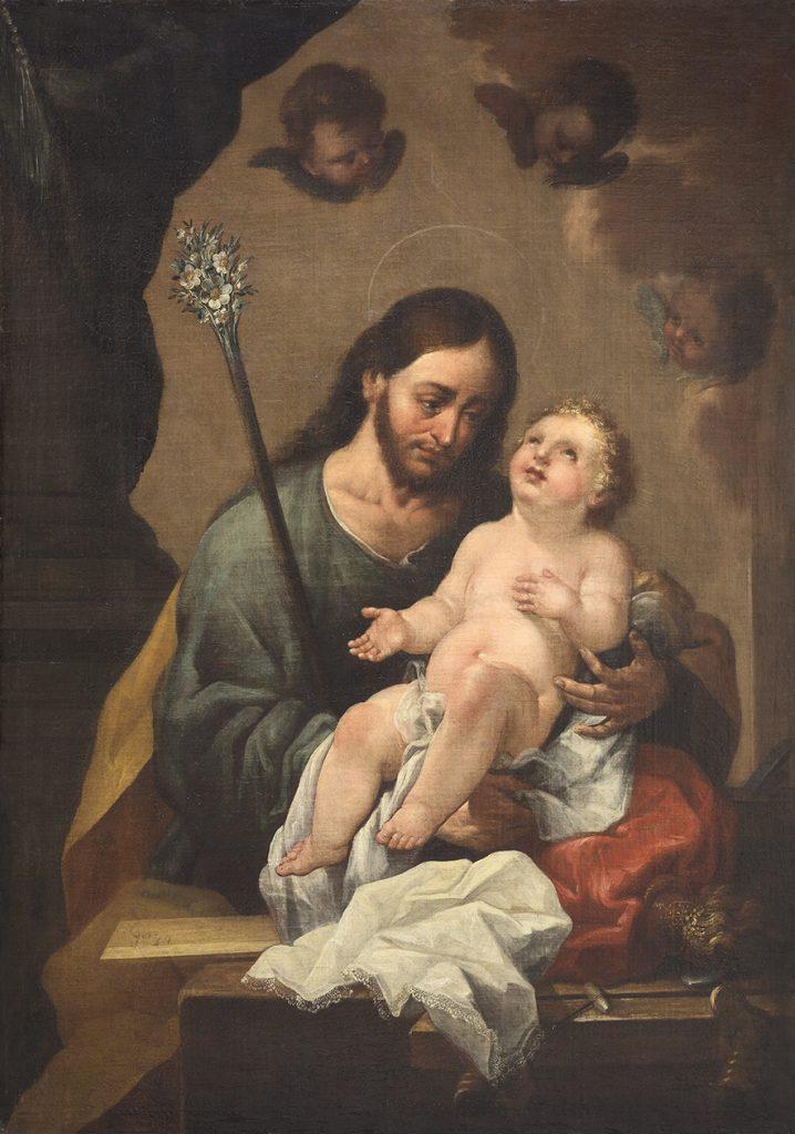 San José con el Niño Jesús