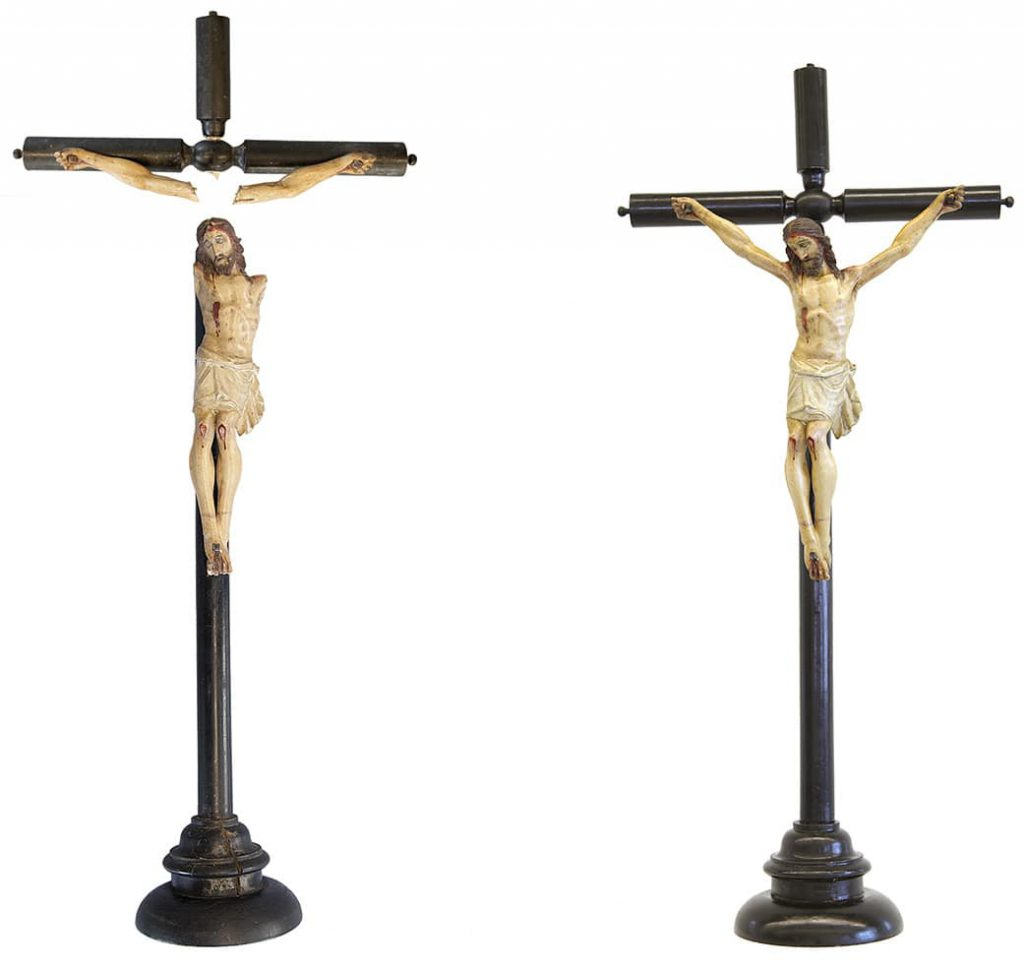 comparativa restauració Crucifix