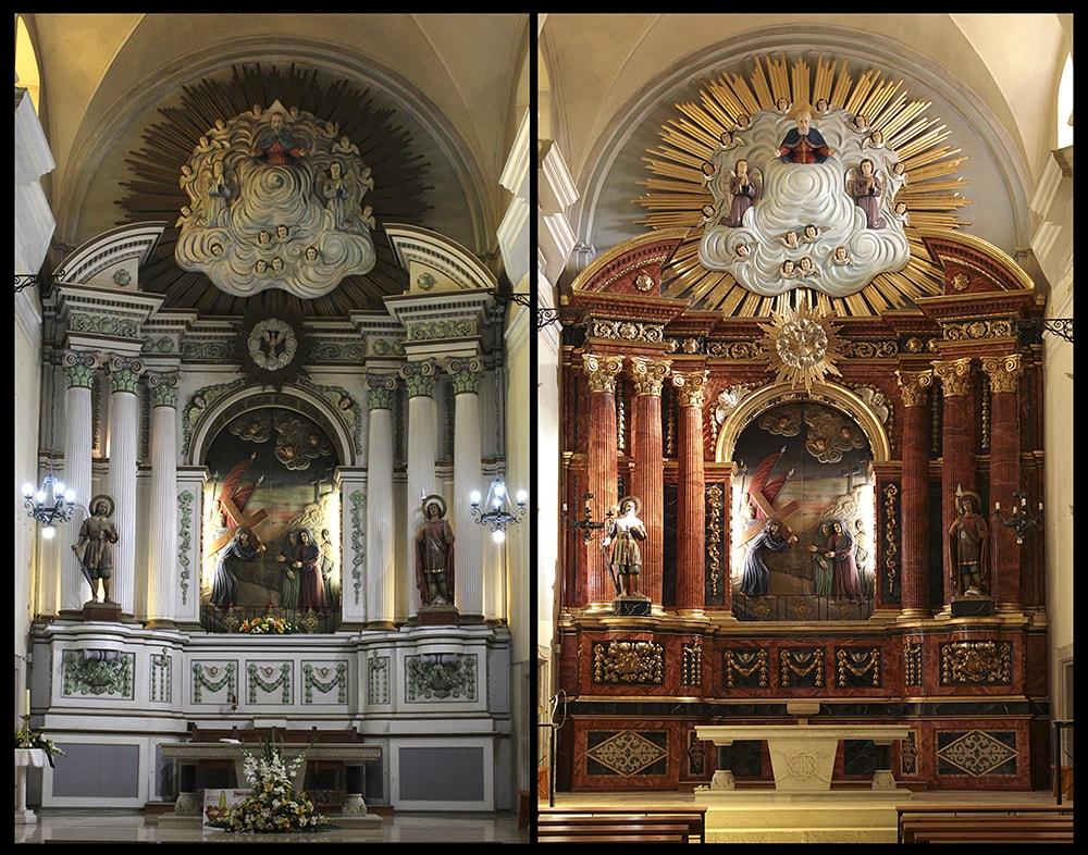restauración Retablo Mayor de la Iglesia de Santa María de Gracia de la Granadella