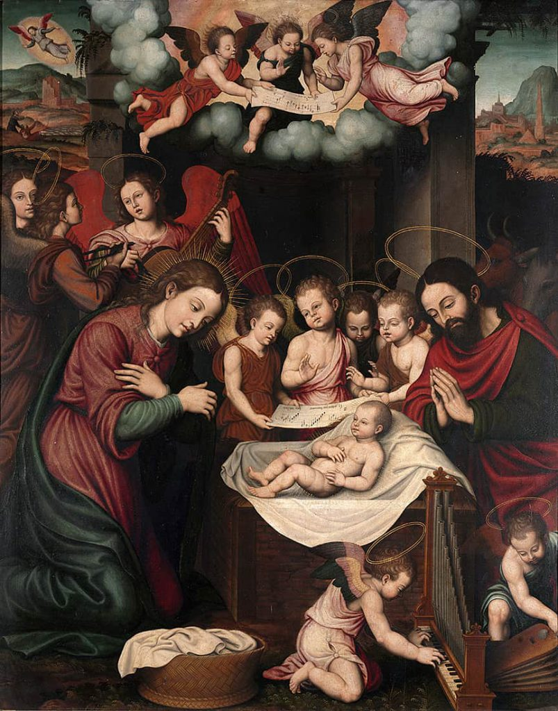 cuadro con título Natividad