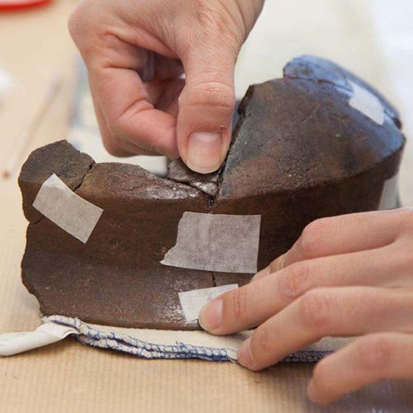 Restauración colección arqueológica Legado Faustino 3
