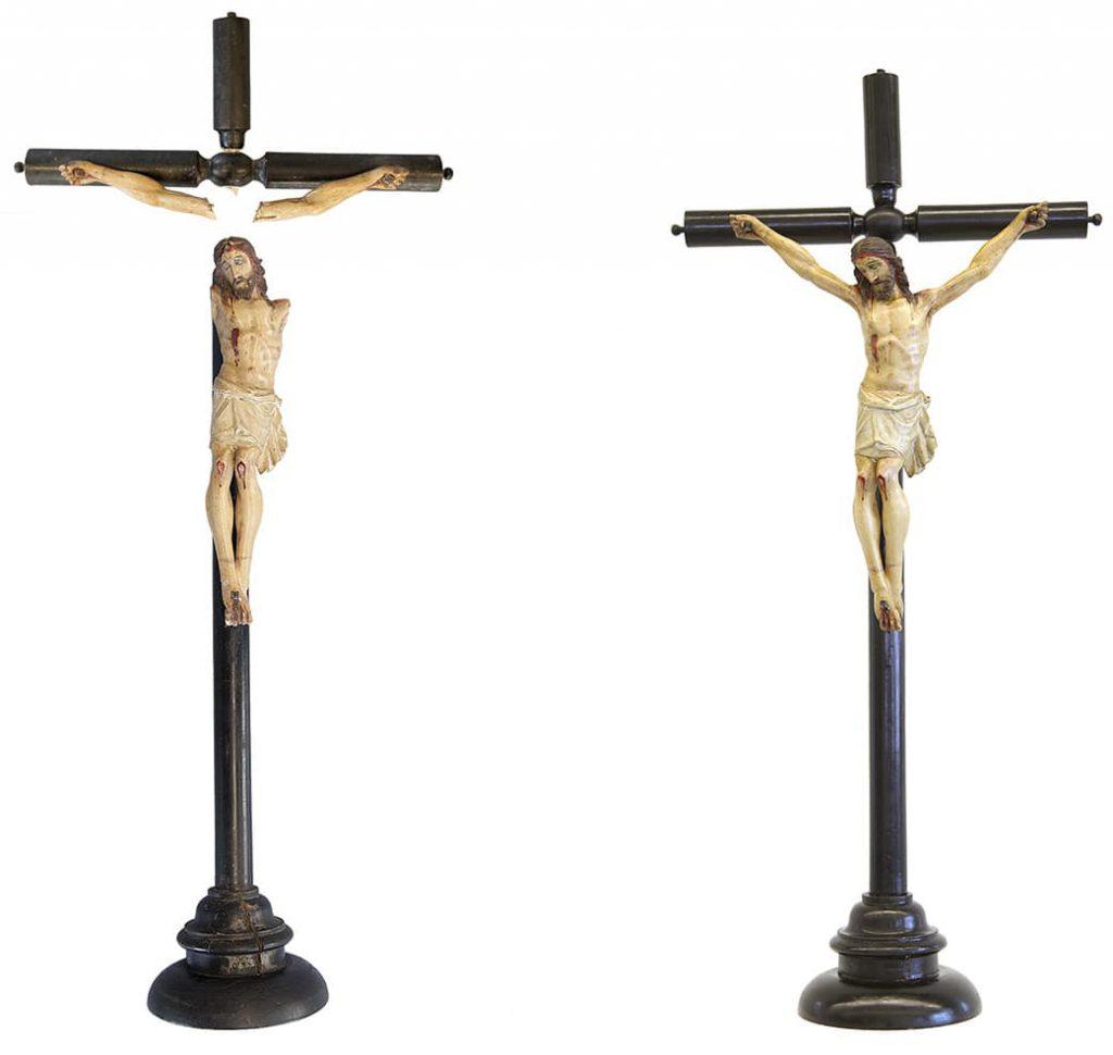 Restauración de crucifijo