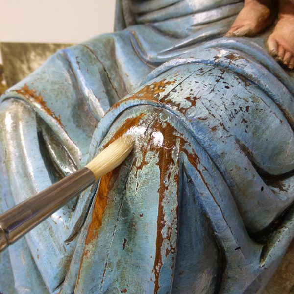 Process of restoration The Virgin Maria of Grenyana 4