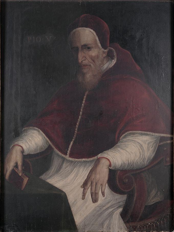 Retrato Pio V autor Fereico Zuccari