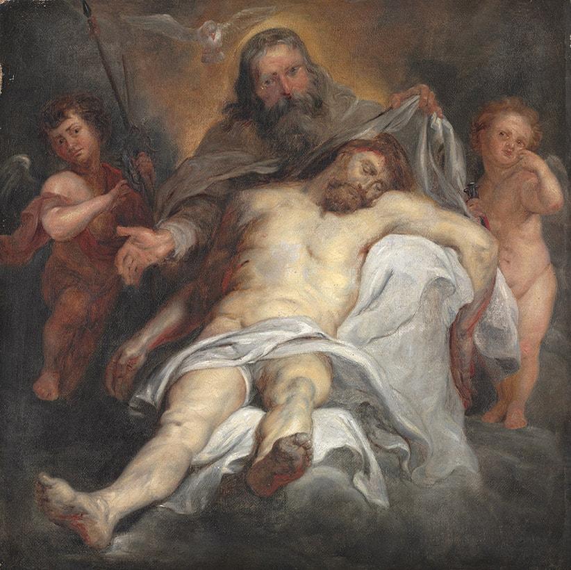 Santissima Trinidad autor Seguidor de Rubens