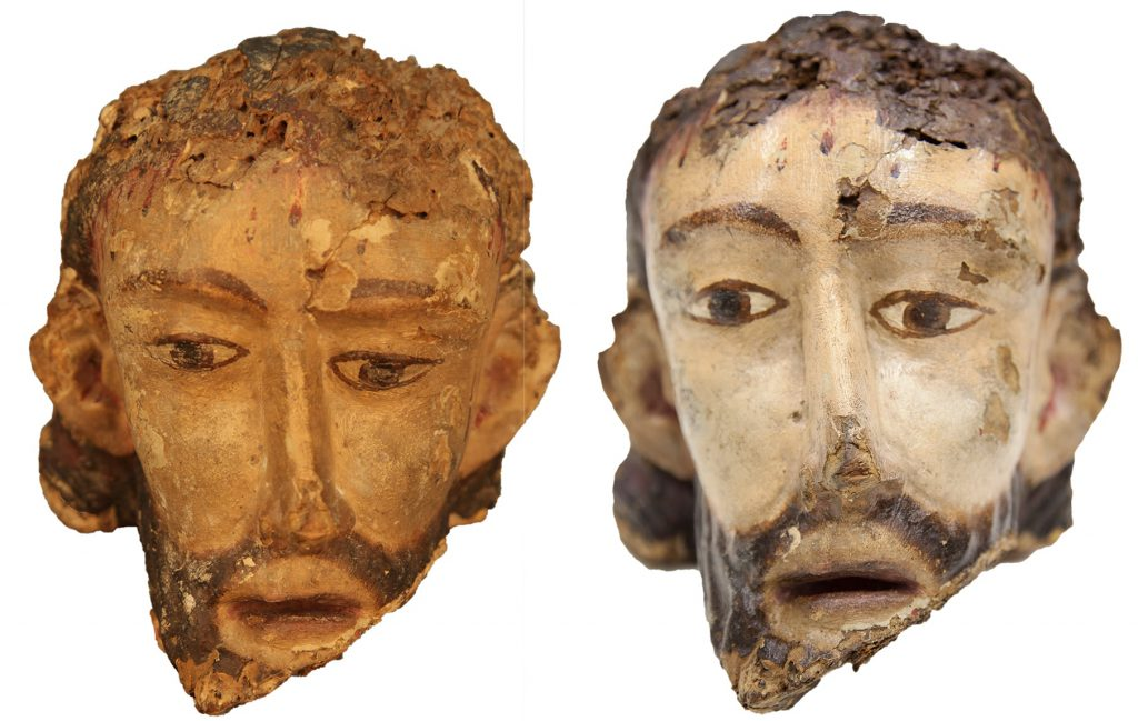 Crucifix comparative - restoration -