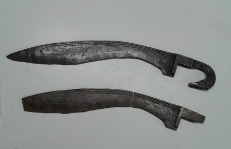 Reproduction of Iberian preroman falcata sword