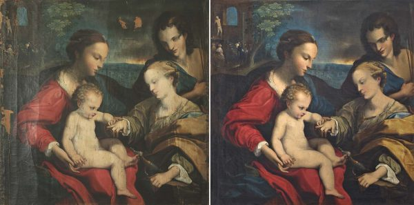 Matrimonio místico de Santa Catalina de Alejandría y San Sebastián