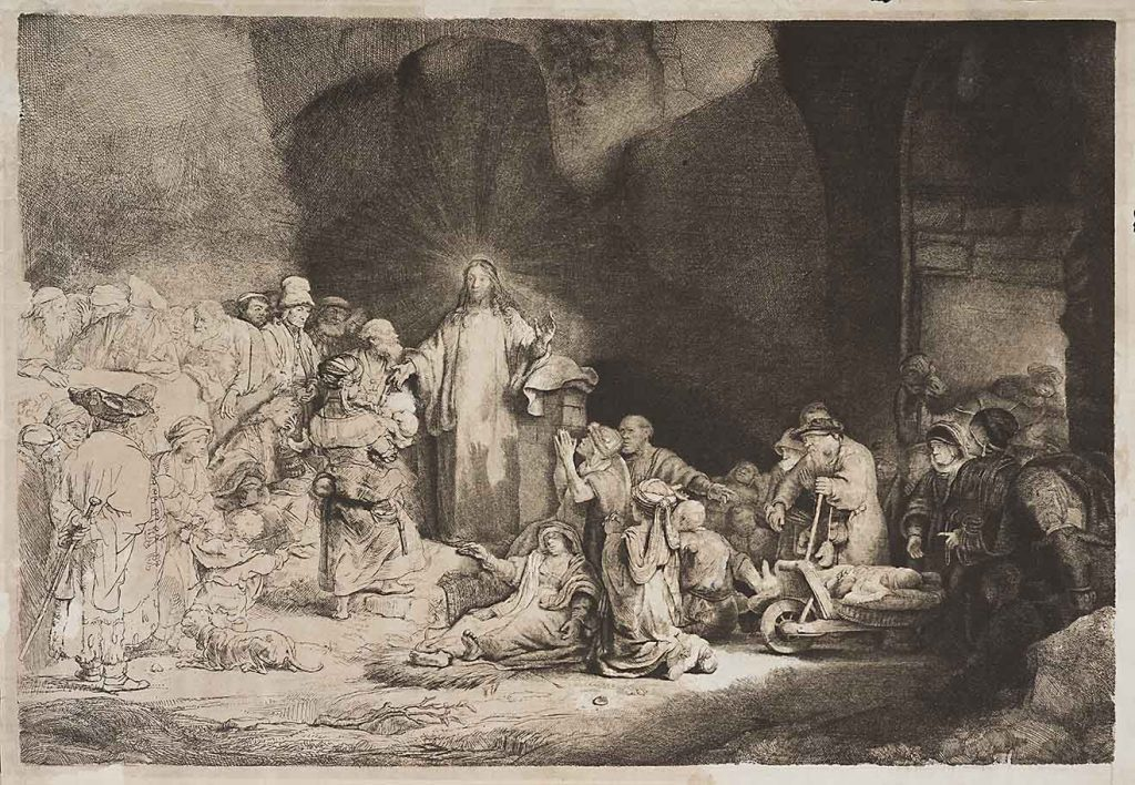 Christ healing the sick • Charles Amand-Durand, copyist of Rembrandt