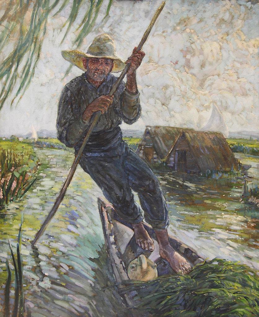 Home amb barca