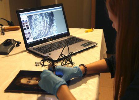 Microscopia al Museu Lázaro Galdiano