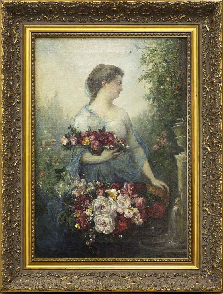 Woman with flowers, allegory of spring Ramon Martí Alsina