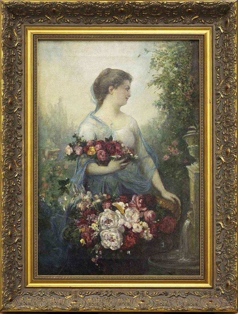 Mujer con flores, alegoría de la primavera