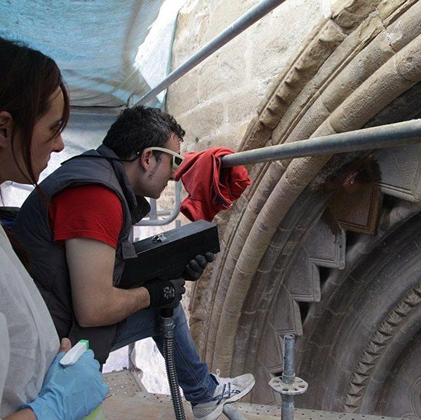 Restauración de la Portada Románica de la Iglesia de Sant Martí, Lleida 3