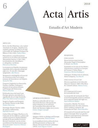 ressenya a la darrera publicació del Dr. Company, dins la revista científica Acta Artis: Estudis d'Art Modern.