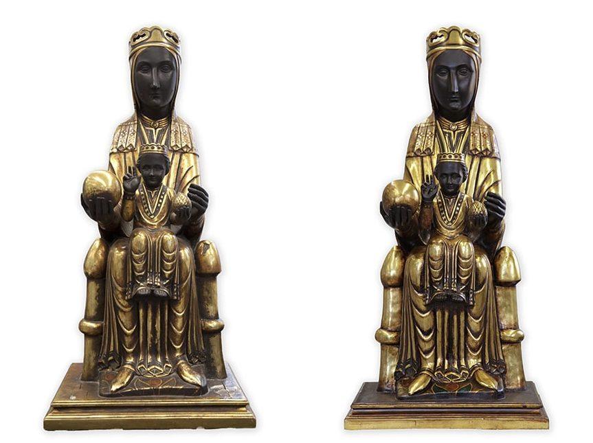 Virgen de Montserrat. Restauración