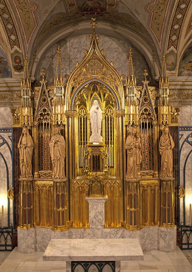 Restauración retablo academia Mariana